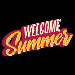 Willkommen Sommer Schriftzug