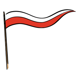 White and red pennant