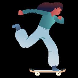 Personaje de patinaje de mujer