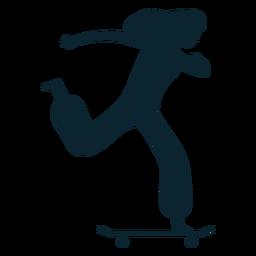Mujer, patinaje, silueta