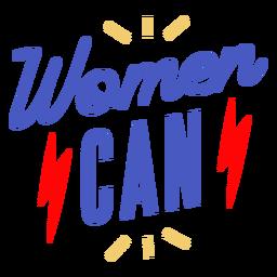 Las mujeres pueden poner letras al día de las mujeres