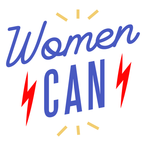 Women can lettering womens day Transparent PNG