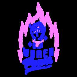 Diseño de insignia de poder femenino