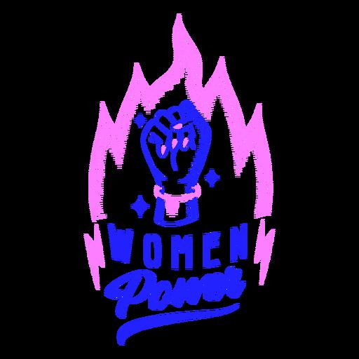 Diseño de insignia de poder femenino Transparent PNG
