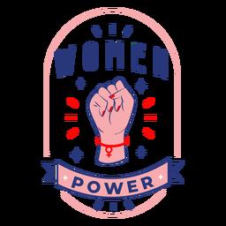 Distintivo de design de poder de mulheres
