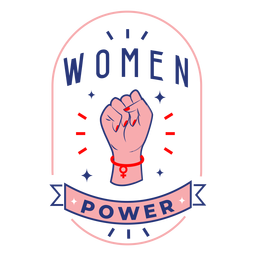 Women power design badge