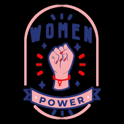 Women power design badge