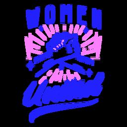 Diseño de insignia de mujer unida
