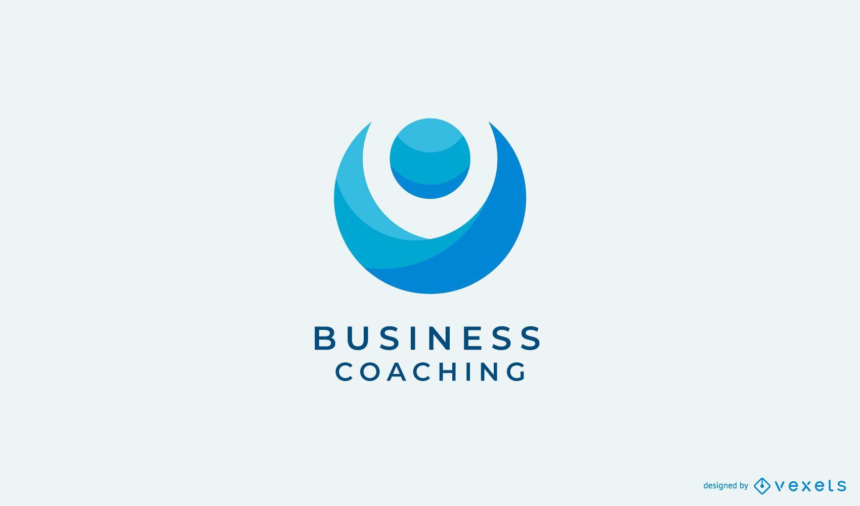Design de logotipo abstrato de coaching de negócios