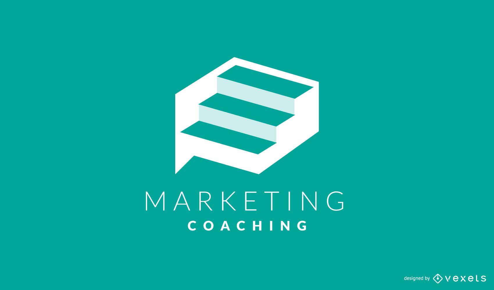 Diseño de Logo de Coaching de Marketing