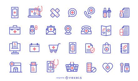 Pharmacy Icons Design Pack