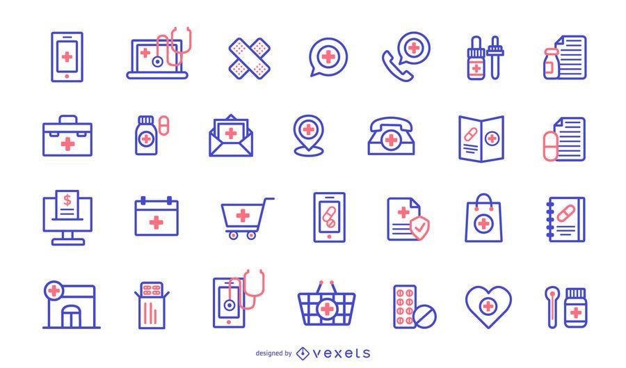 Pharmacy Icons Design Pack