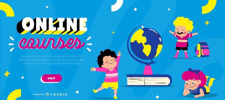 Online Courses Kids Slider Design
