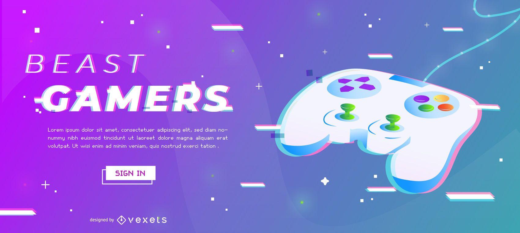 Beast Gamers Slider Design