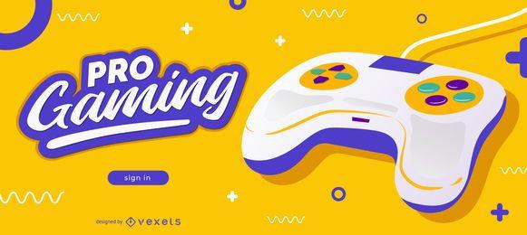 Design de Slider do Blog de Jogos Profissionais