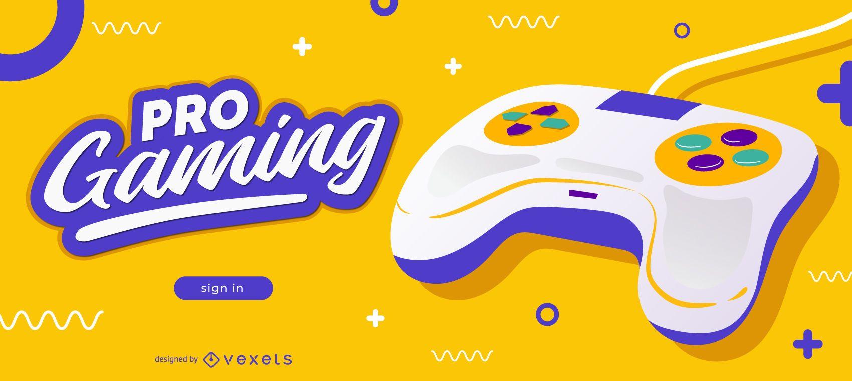 Pro Gaming Blog Slider Design