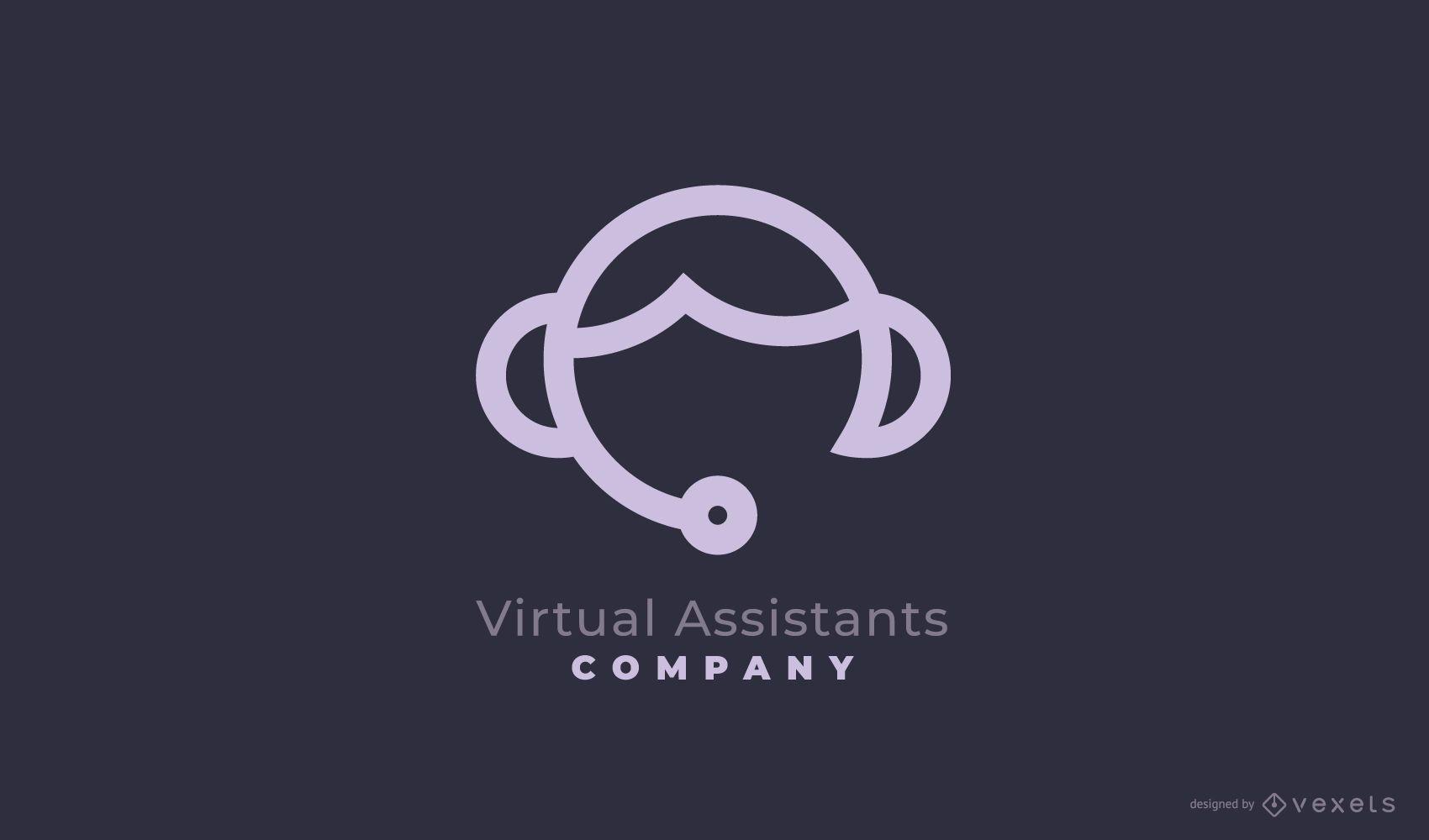 Diseño de Logo de Empresa Asistente Virtual