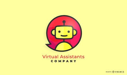 Design de logotipo empresarial do assistente virtual