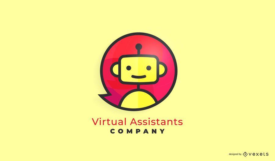 Asistente Virtual Business Logo Design