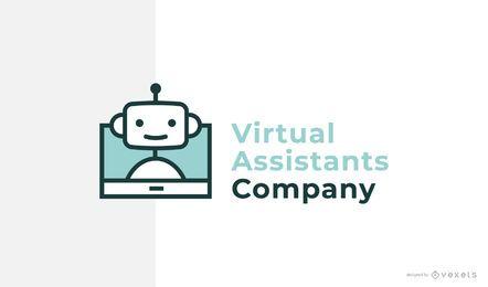 Design de logotipo de marca assistente virtual