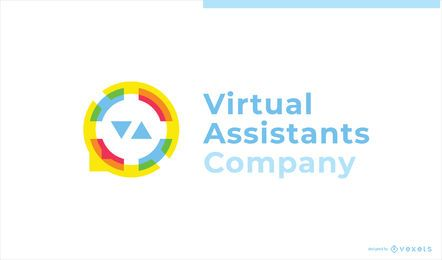 Assistente virtual Business Custom Logo Design