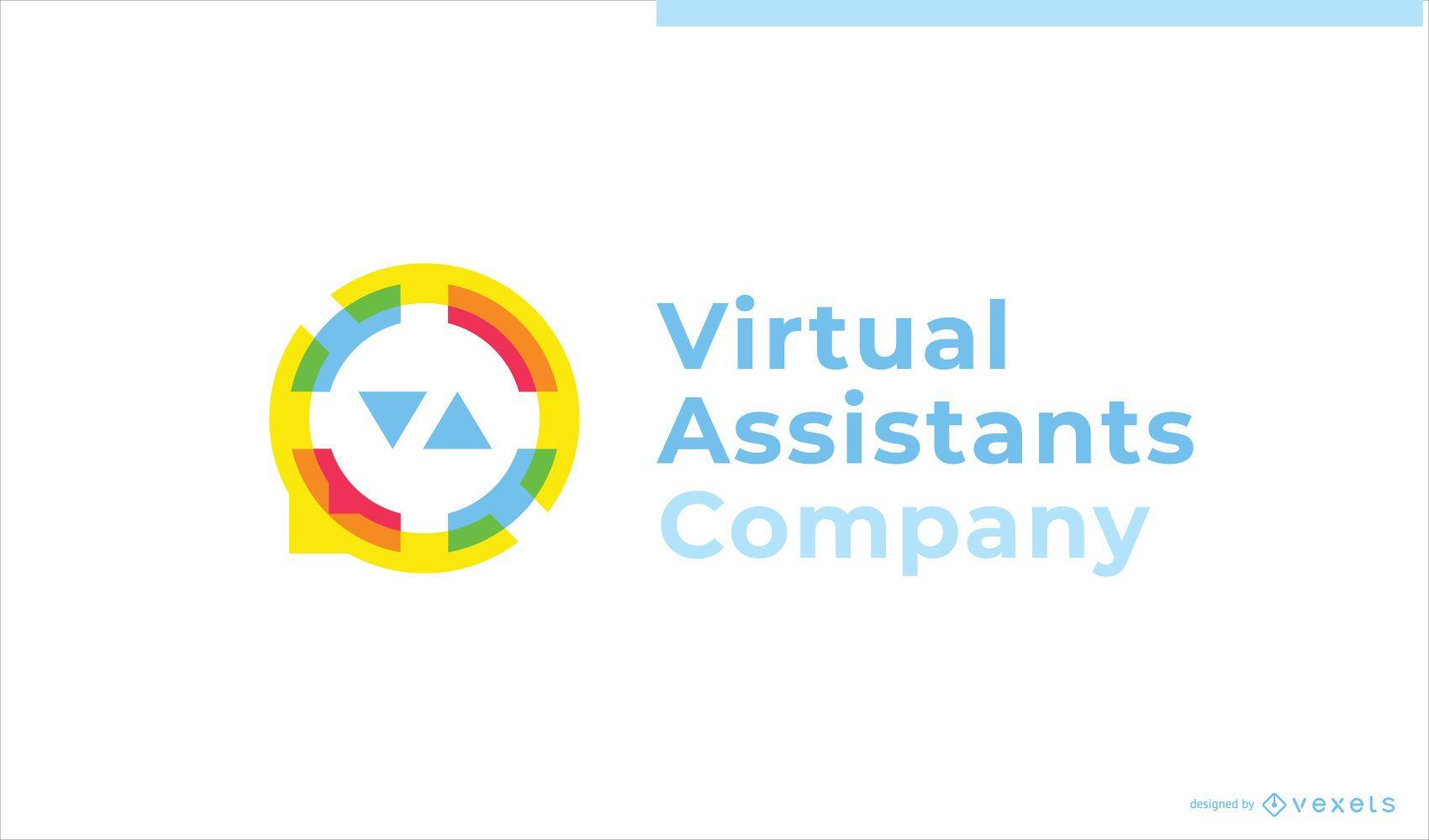 Virtual Assistant Business Custom Logo Design