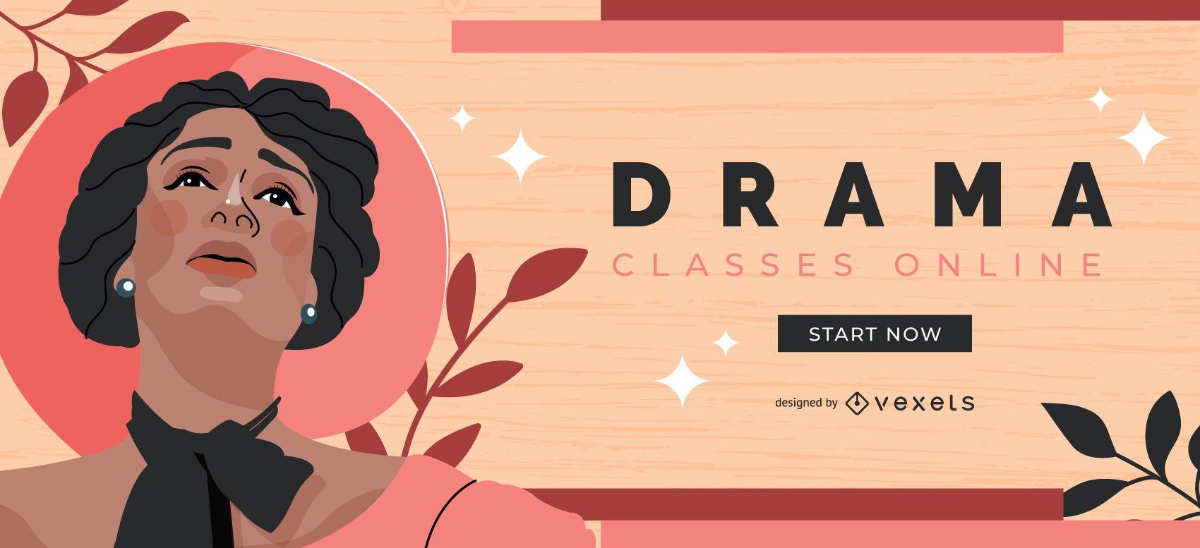 Design de capa para aulas de teatro
