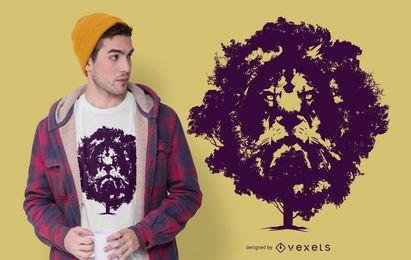 Diseño de camiseta Lion Tree