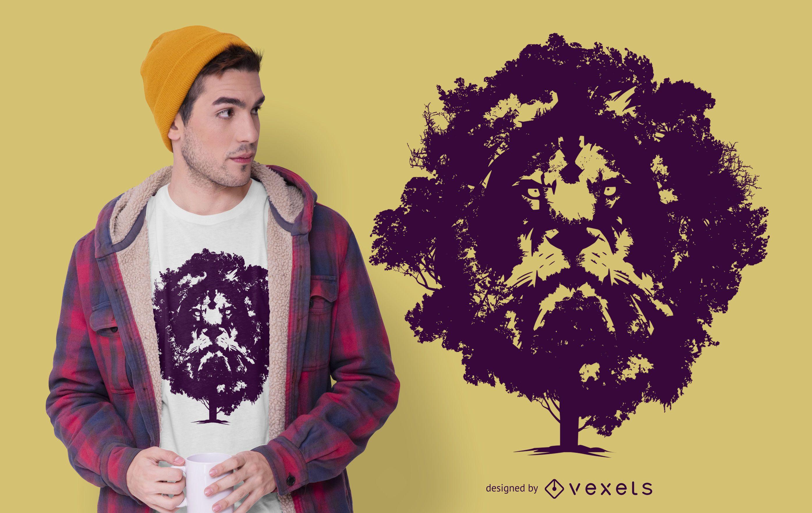 Lion Tree T-shirt Design