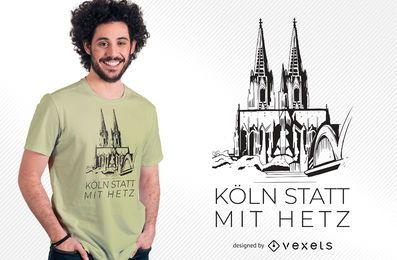 Diseño de camiseta de la catedral de Colonia