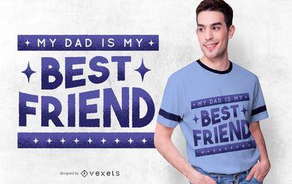 Diseño de camiseta papá es mi mejor amigo
