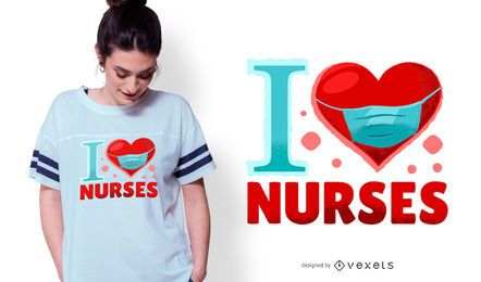 I Love Nurses T-shirt Design