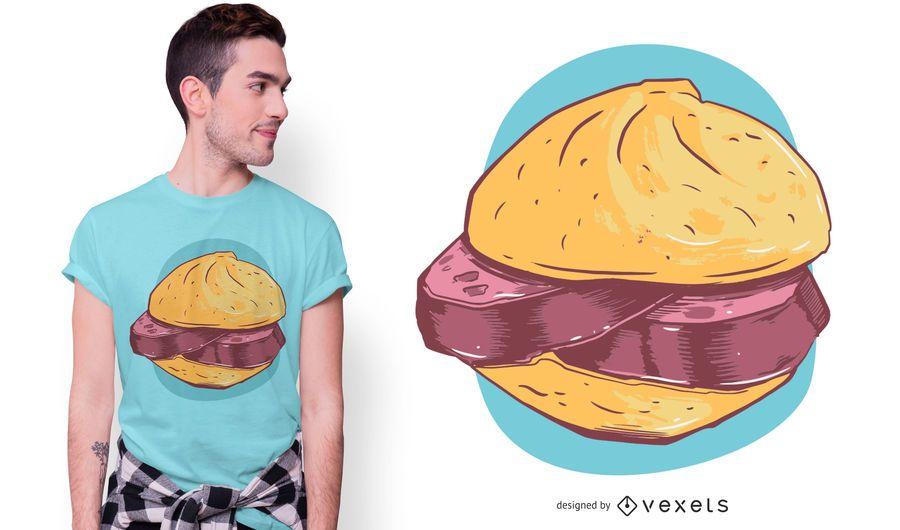 Diseño de camiseta de sandwich bávaro