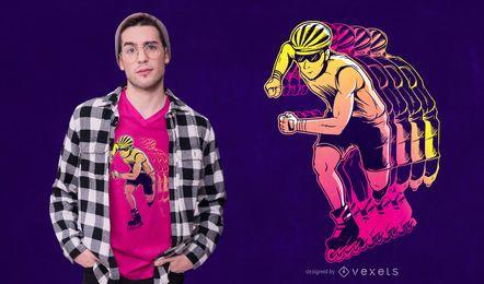 Design em linha do t-shirt do skater