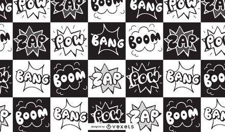 Comic-Boom-Zap-Muster-Design