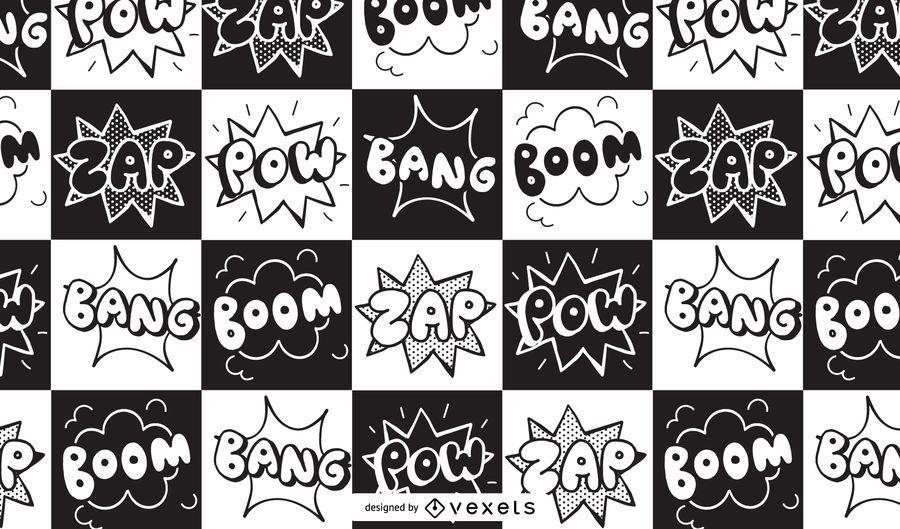 Comic Book Boom Zap Pattern Design