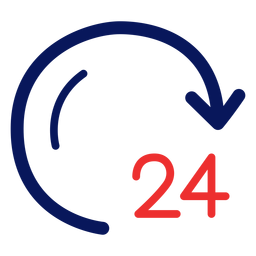 Icono de reloj de 24 horas