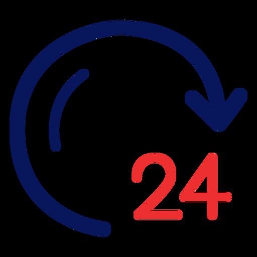Icono de reloj de 24 horas Transparent PNG