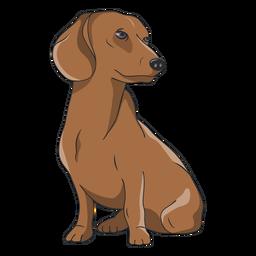 Ilustración de perro Dachshund