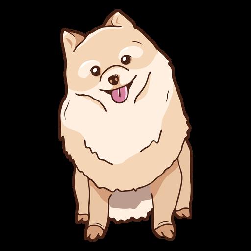Pomeranian dog sitting illustration