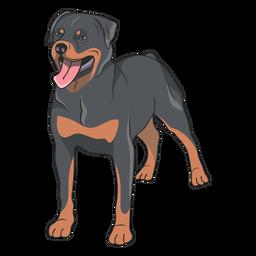 Ilustración de perro Rottweiler