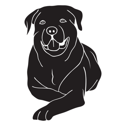 Rottweiler dog lying down black Transparent PNG