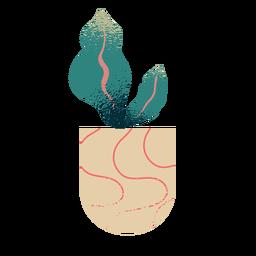 Planta de interior abstracta con textura