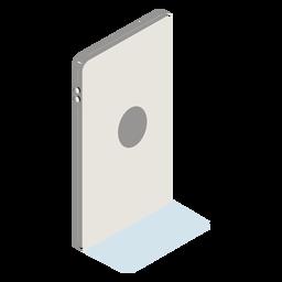 Celular para trás isométrico