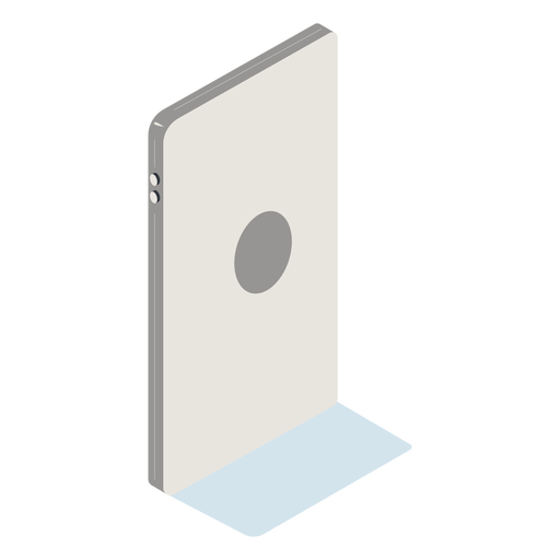 Backwards cellphone isometric Transparent PNG