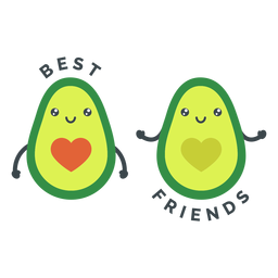 Best friends avocados