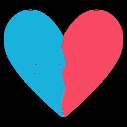 Corazon de mejores amigos