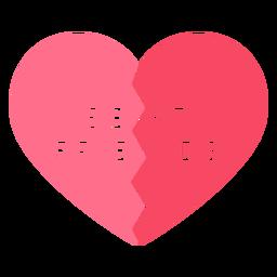 Mejores amigos corazón rosa