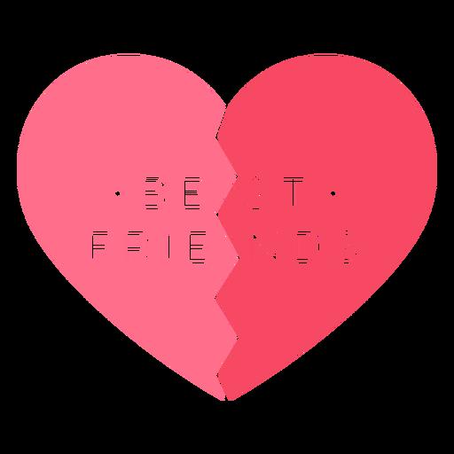 Best friends pink heart