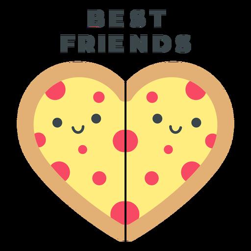 Best friends pizza heart